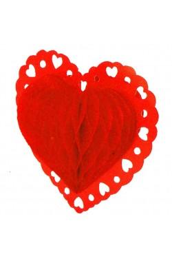 Cuore San Valentino in cartoncino a soffietto