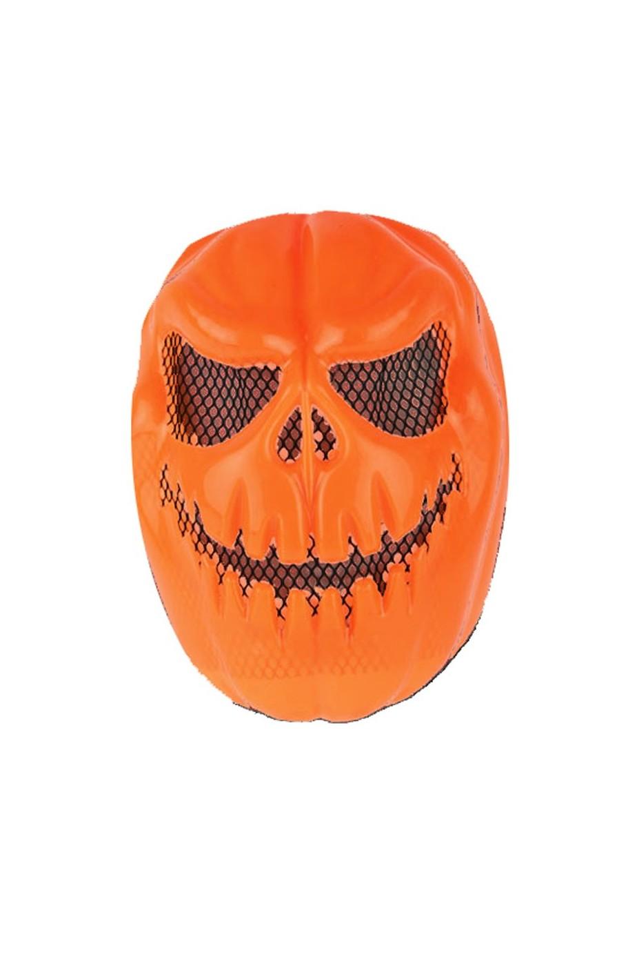 Maschera Zucca Halloween Jack O'Lantern rigida