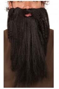 Trucco: Barba Nera Mago adulto lunga liscia folta