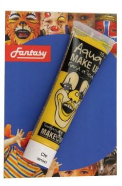 Trucco teatrale tubetto aqua color 15ml giallo