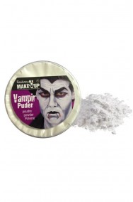 Trucco polvere vampiro con spugna: Polvere ad effetto pallore dracula cipria bianca