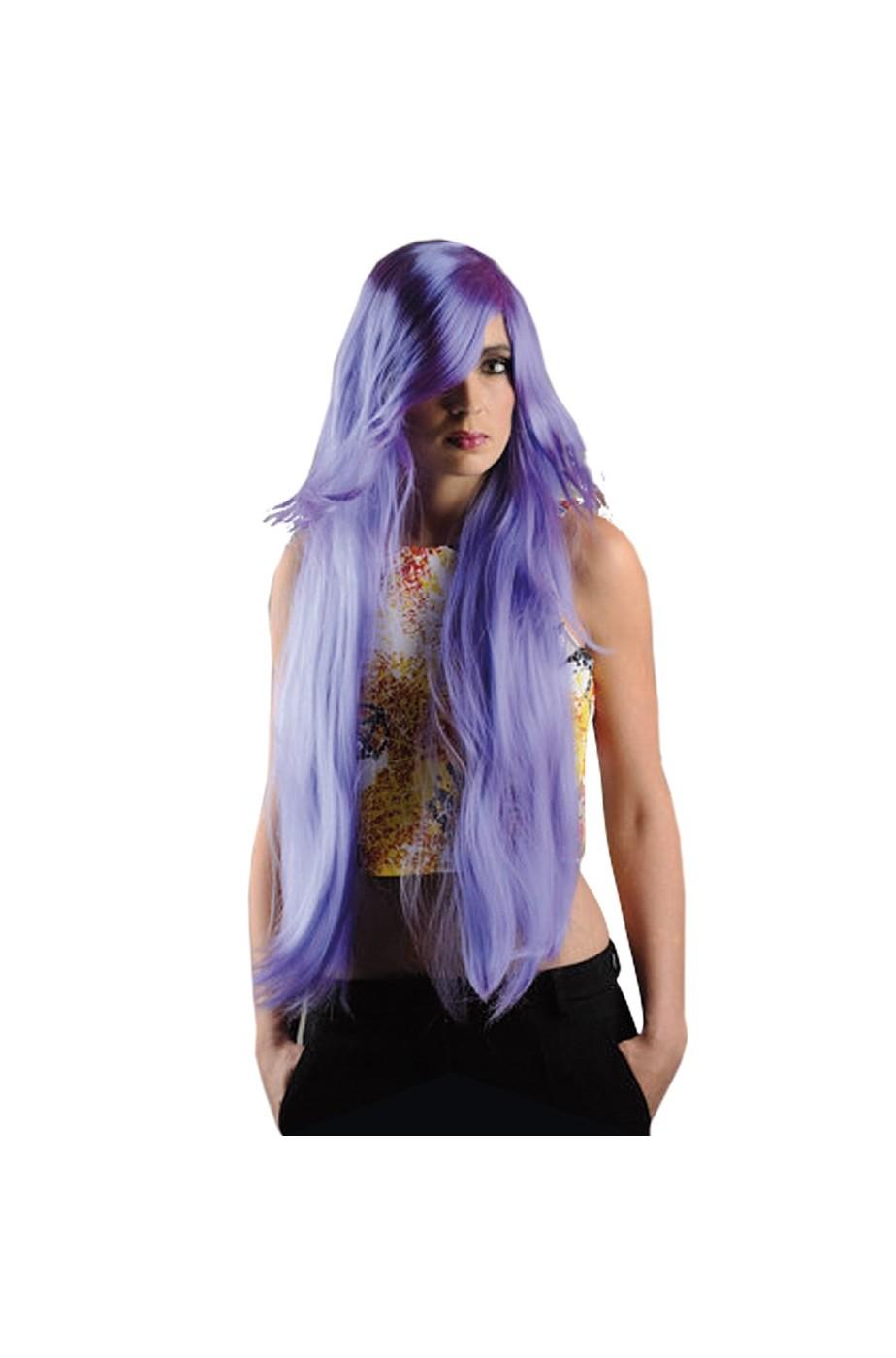 Bellissima parrucca di carnevale cosplay Anime Manga viola
