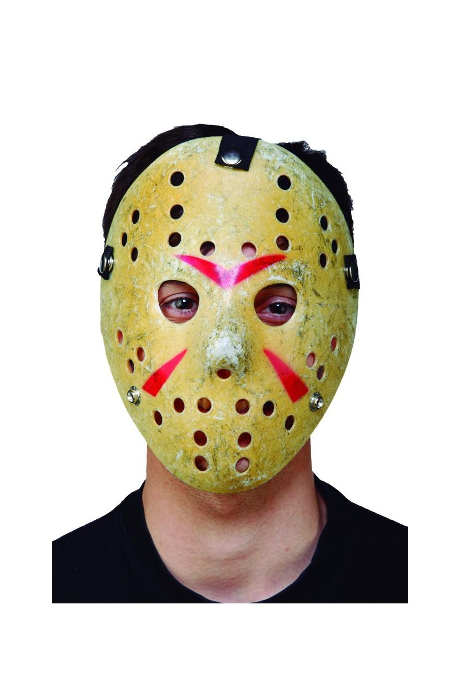 770fb39a12be Maschera carnevale Hockey Jason solo facciale con elastico in plastica