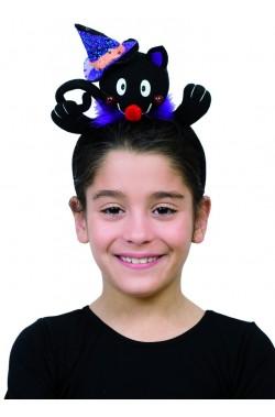 Cappello Gatto nero con cerchietto