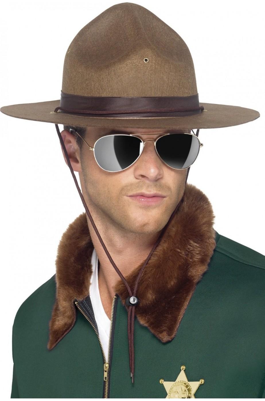 Cappello sceriffo ranger sergente marines floccato adulto Clint Eastwood