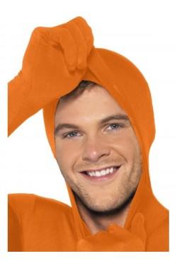 Costume tuta arancio 2nd skin. Tuta aderente.Si beve attraverso.
