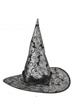 Cappello strega economico in nylon con paillet