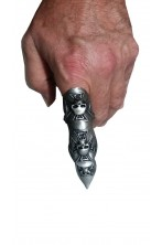 Anello con teschi in metallo a dito intero