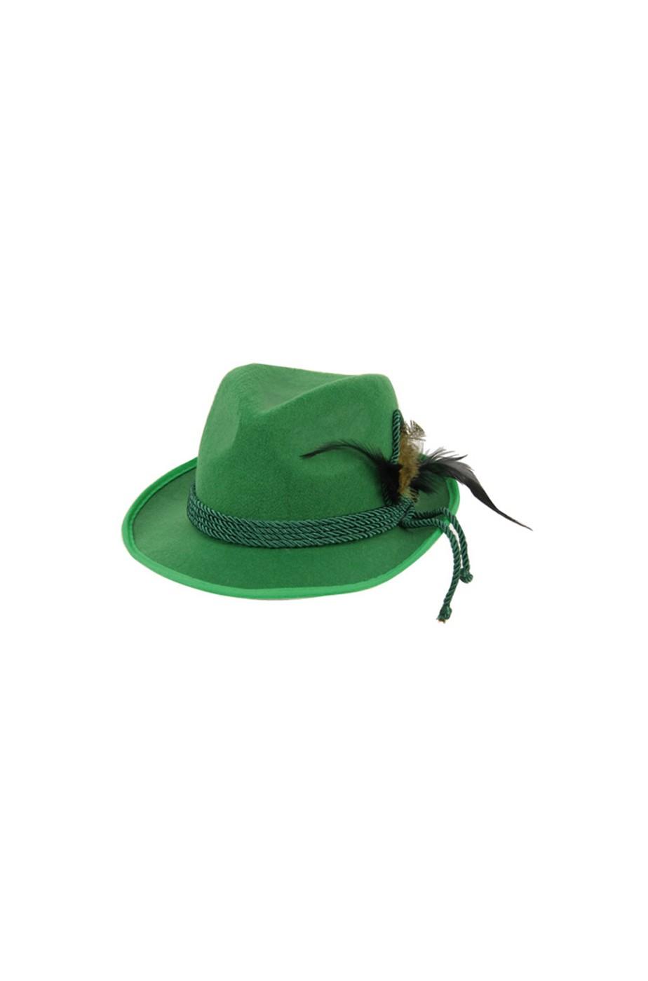 Adulti Oktoberfest Tedesco Cappello Di Feltro Verde Costume