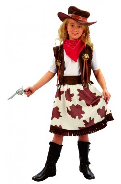 Costume carnevale Bambina Cow girl