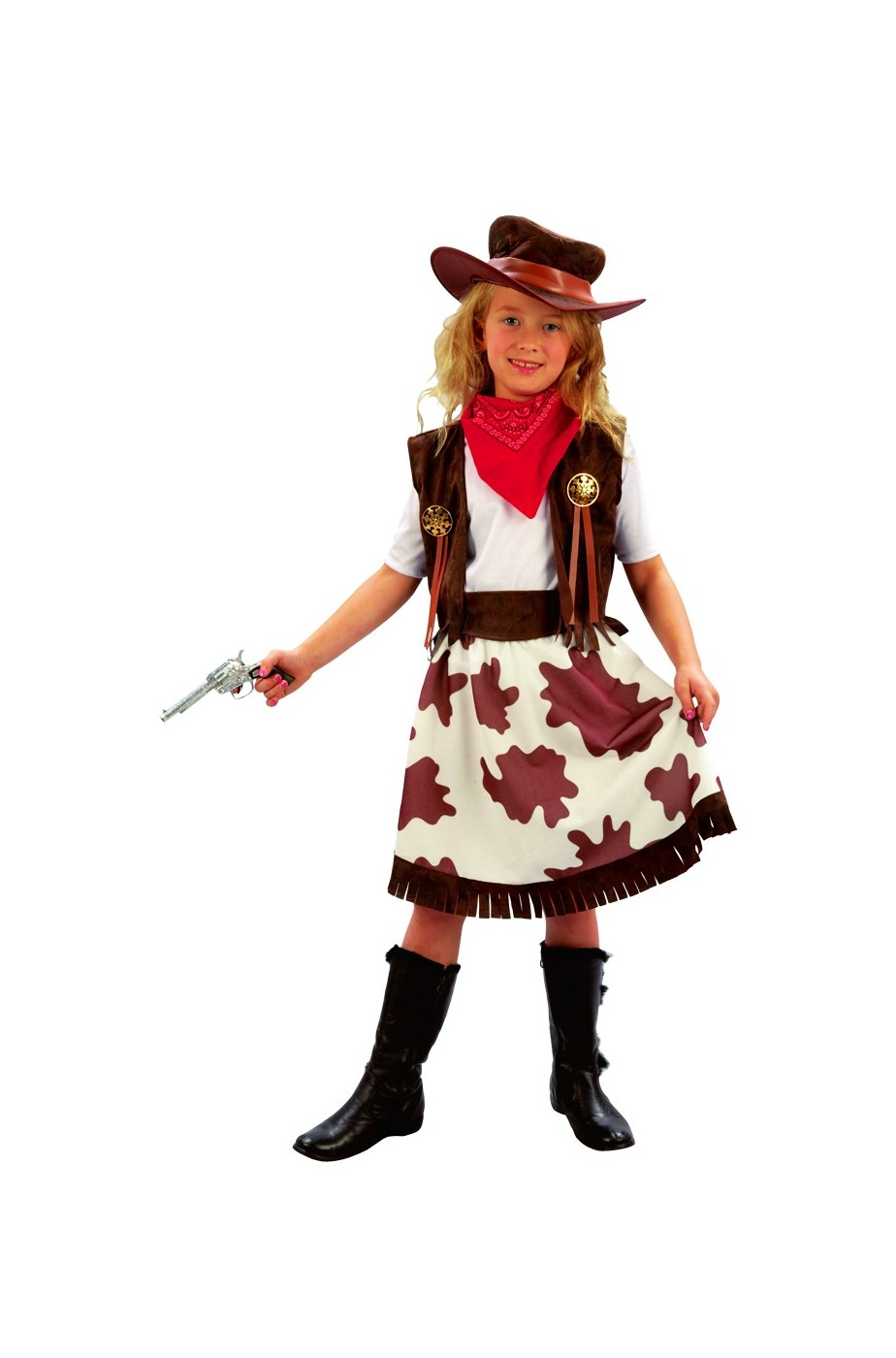 Costume carnevale Bambina Cow girl