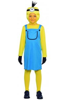 Costume bambina ometto giallo