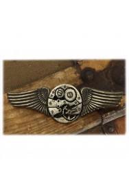 Fregio spilla aeronautica in metallo per uniformi, divise, pilota e Steampunk