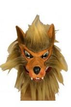 Maschera da lupo in lattice con pelo foltissimo e bellissimo