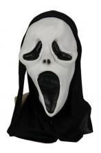 Maschera scream con cappuccio in eva