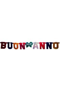 Striscione festone ghirlanda Buon Anno 140cm