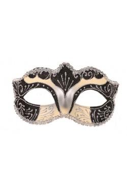 Maschera in Stile Veneziano donna color argento