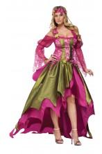 Costume Regina delle Fate Ninfa elfa adulta o celtica