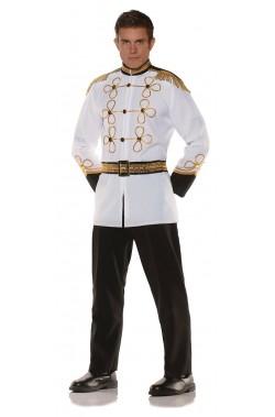 Vestito da principe azzurro giacca bianca di Cenerentola adulto