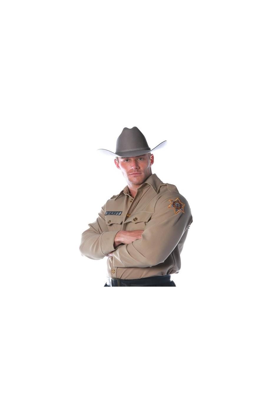 Camicia da sceriffo americano adulto