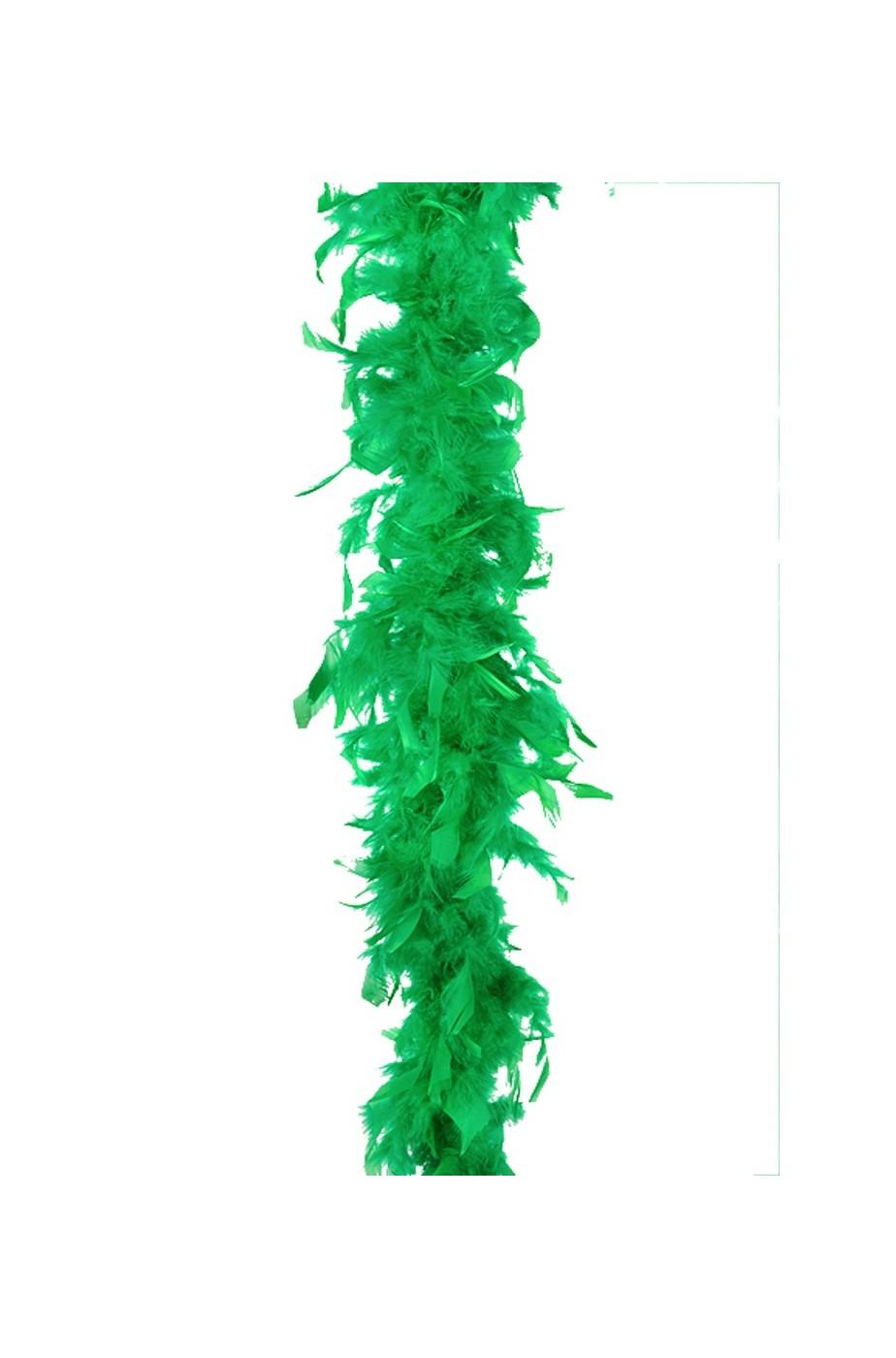 Boa di piume verde gr50