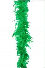 Boa di piume verde gr 50 circa 190 cm