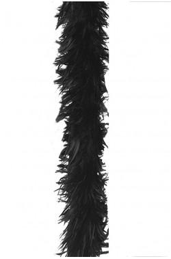 Boa di piume nero gr55