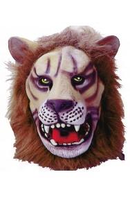 Maschera adulto leone a tutta testa con criniera