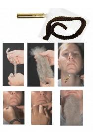 Trucco: Matassina di pelo con colla per creare barbe o baffi finti marrone