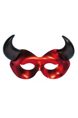 maschera demone rossa e nera