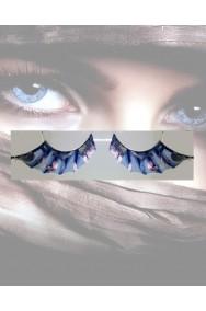 Ciglia finte nere ed azzurre pipistrello