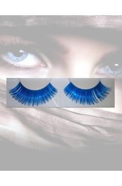 Ciglia finte blu metallizzato