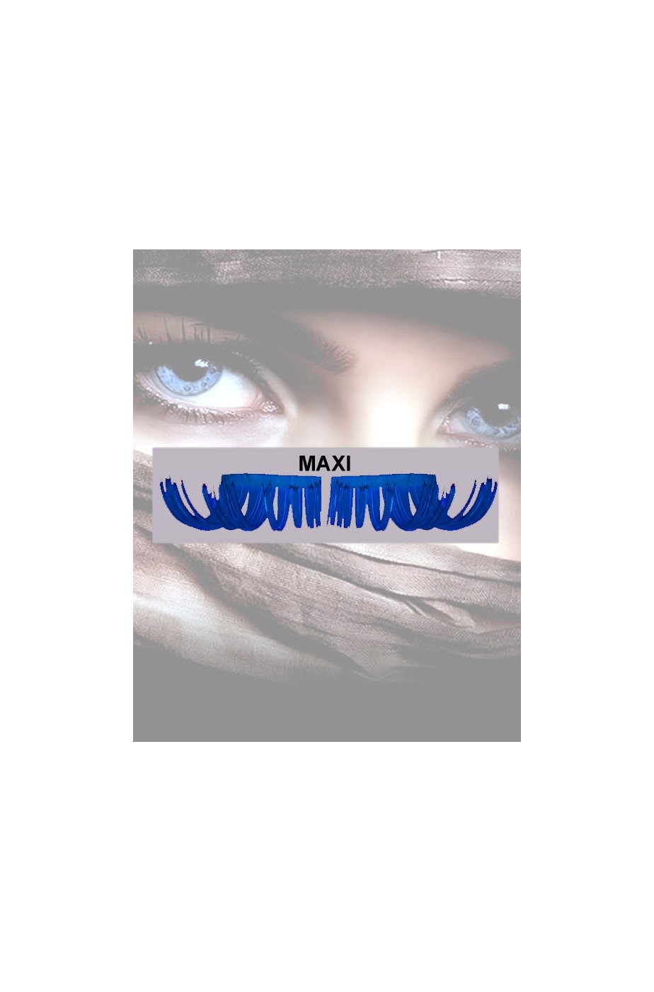 Ciglia finte maxi Drag Queen Blu