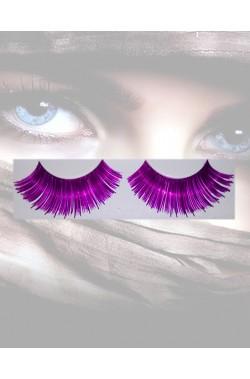 Ciglia finte viola metallizzato