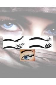 Eyeliner a tatuaggio per sopracciglia da piratessa 4 motivi