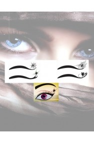 Eyeliner nero a tatuaggio con motivi da strega