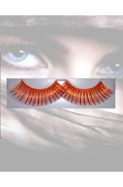 Ciglia finte arancio metallizzate