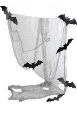 Telo in garza stracciabile con pipistrelli cm 75x300