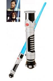 Spada Laser Adulto Obi Wan Kenobi dal film Star Wars estensione azzurra