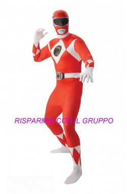 Costume Power Rangers 2nd skin Red Ranger Tg:L