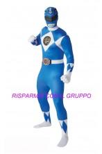 Costume Power Rangers 2nd skin Blue Ranger Tg:L