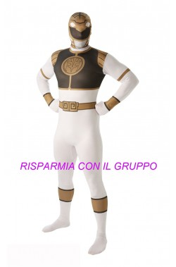 Costume Power Rangers 2nd skin White Ranger Tg:L