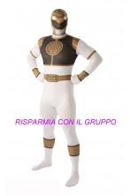 Costume Power Rangers 2nd skin White Ranger Tg:L