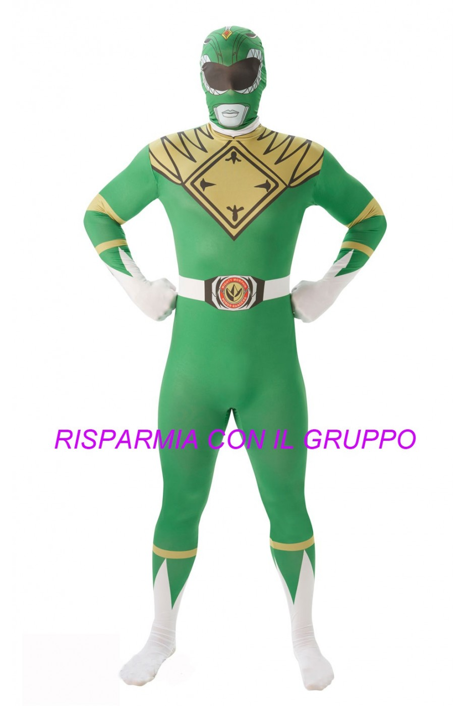 Costume Power Rangers 2nd skin Green Ranger Tg:L