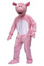 Costume mascotte uomo maiale Lusso