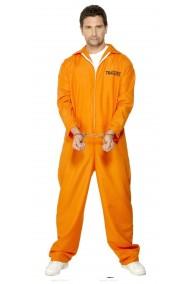 Costume uomo Detenuto o carcerato Americano Arancione