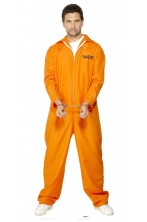 Costume uomo Detenuto Americano Arancione