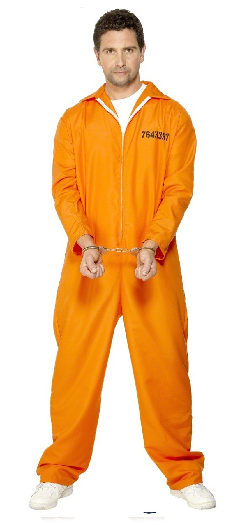 Costume da detenuto prigioniero condannato tuta arancione da bambino