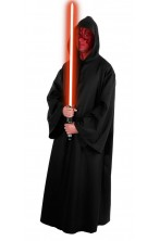 Tunica nera Maestro Sith 175cm per Darth maul Star wars