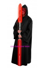 Set Tunica nera Maestro Sith 175cm e bastone Darth Maul Star wars